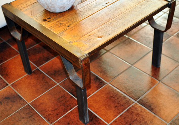 #386 Reclaimed Wood End Table