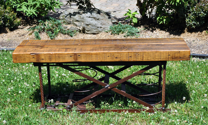 #383 Reclaimed Spring Bench