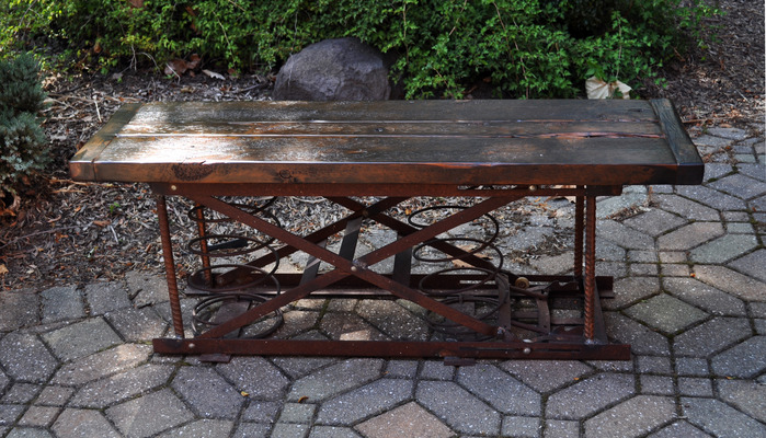 #382 Reclaimed Spring Bench