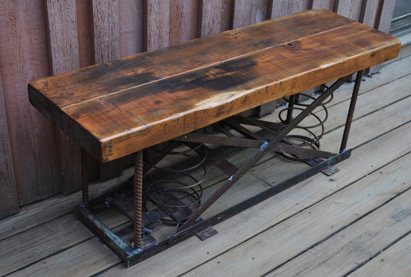 #384 Reclaimed Spring Bench