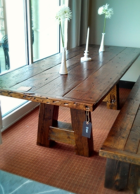 #431 Reclaimed A-Frame Table