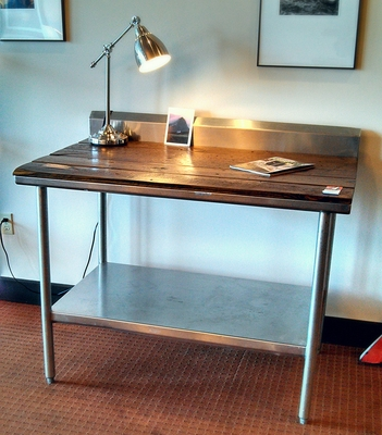 #458 Reclaimed Stainless Table