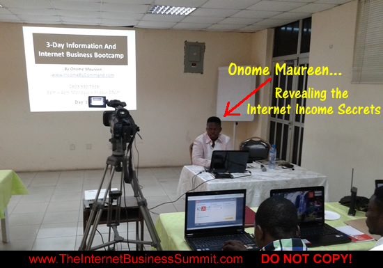 Onome Maureen LIVE at a 3-Day Internet Business Make Money Seminar