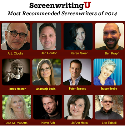 ScreenwritingU's Most Recommended Screenwriters