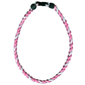 Wincraft Titanium Ionic Braided Necklace - Pink/White at Sears.com