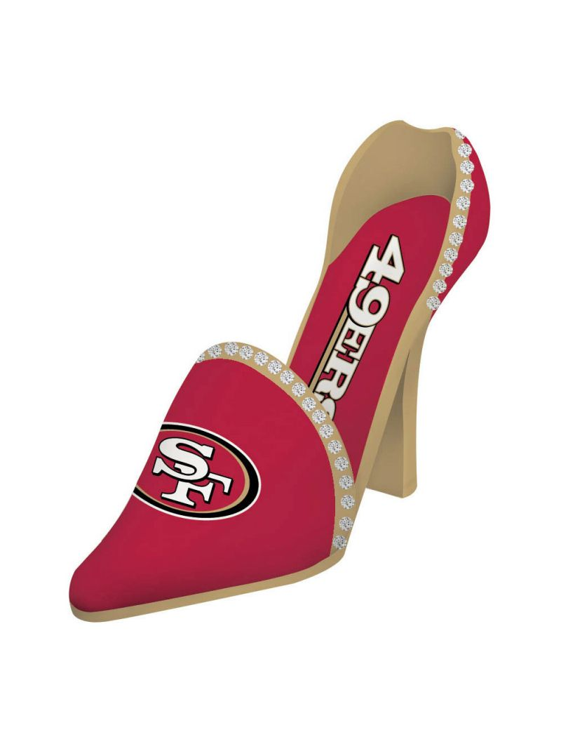 Team Sports America San Francisco 49ers Decorative Wine Bottle Holder - Shoe