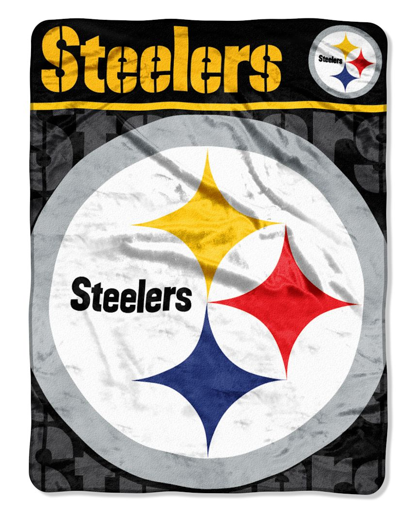 "The Northwest Company Pittsburgh Steelers 46"" x 60"" Micro Raschel Throw Blanket - Livin' Large Design at Sears.com"