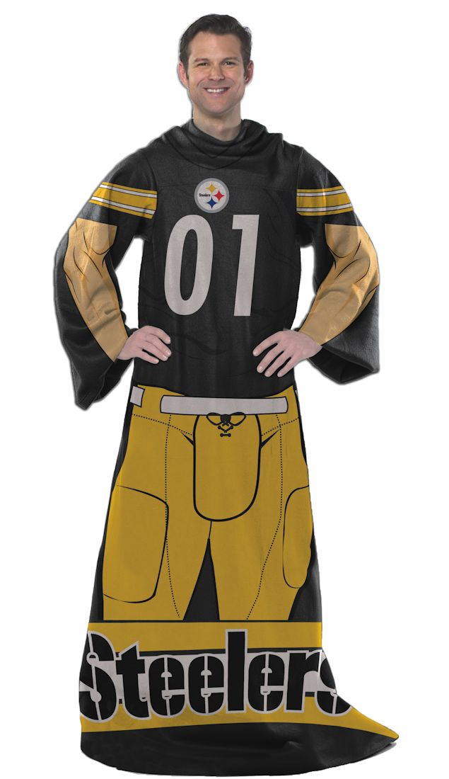 The Northwest Company Pittsburgh Steelers Comfy Throw Blanket With Sleeves - Player Design at Sears.com