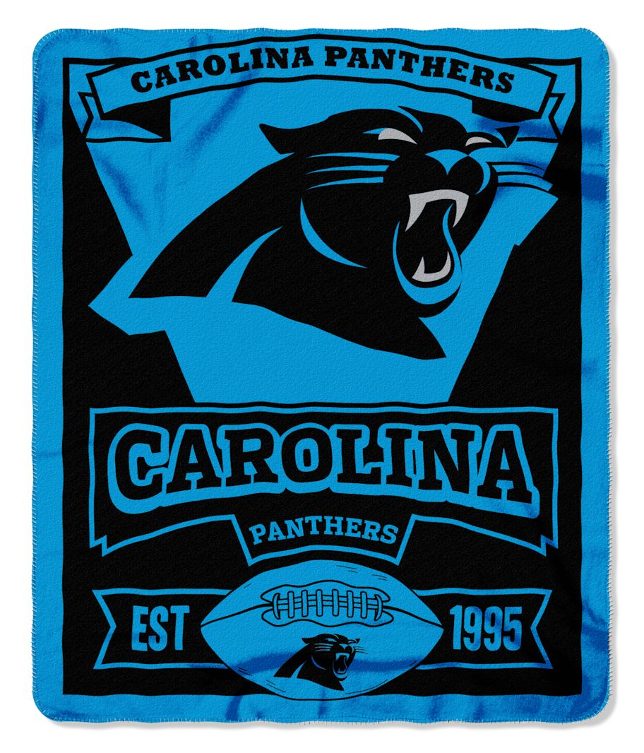 The Northwest Company Carolina Panthers 50x60 Fleece Blanket - Marque Design