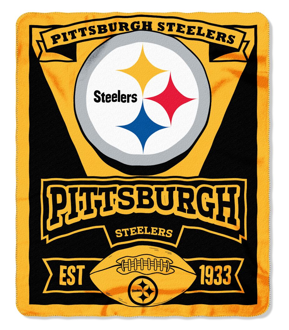The Northwest Company Pittsburgh Steelers 50x60 Fleece Blanket - Marque Design at Sears.com