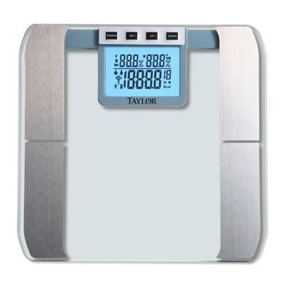 Taylor Taylor 57614192F Glass Platform Body Fat Scale