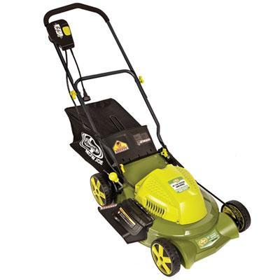 Snow Joe Sun Joe Electric Mower Mow Joe 20 In. Side Discharge Rear Bag 12 Amp