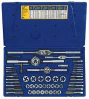 Irwin Industrial Tool Co Hanson 53 Piece Machine Screw / Fractional Tap and Hexagon Die Set