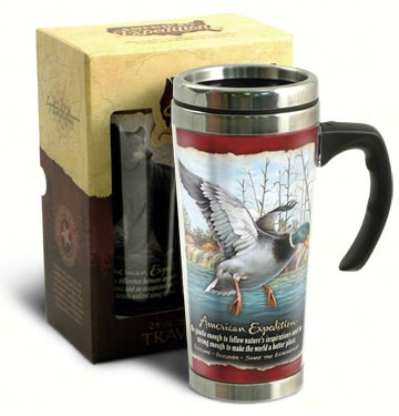 American Expedition 24 oz Steel Travel Mug Mallard