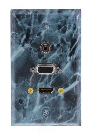 MCM Steel Wall Plate Granite Vga Hdmi 3.5Mm Audio - Green