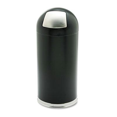 Safco Dome Top Receptacle with Spring-Loaded Door