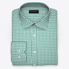Bishop meander green micro twill sqw small