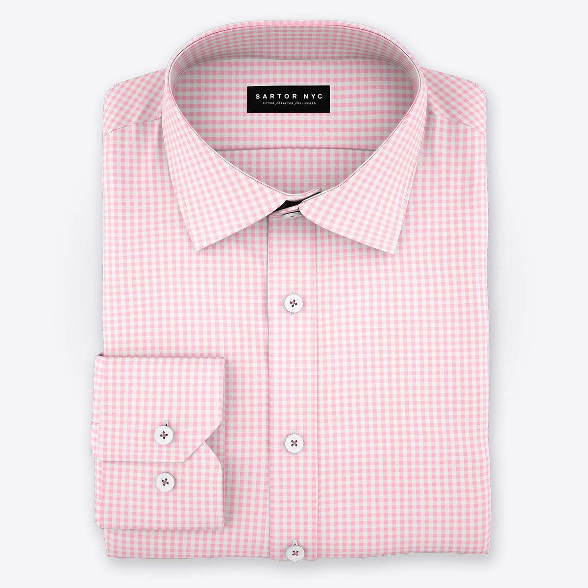 Cooper pink micro twill sq huge