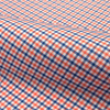 Norwich orange and dk blue small check fabric small