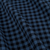 3108 16 mendoza flanella blue black gingham fabric  small