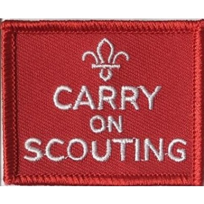 Carry on scouting actual badge