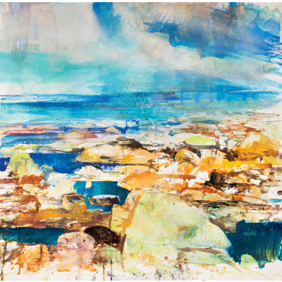 Seascape abstract rock pools sml