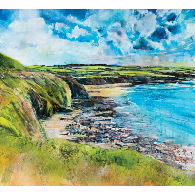 Summer clouds church bay anglesey sml