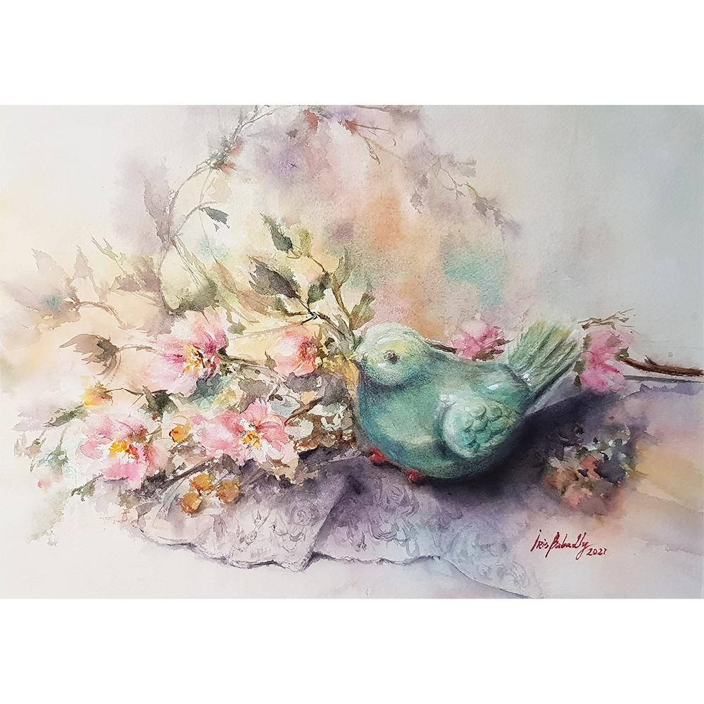 Iris painting