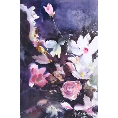 Blooming in dark 56x38cm %283165 x 4800%29