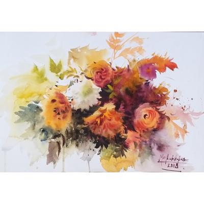 Autumn blooms 28x38cm %28re sized%29