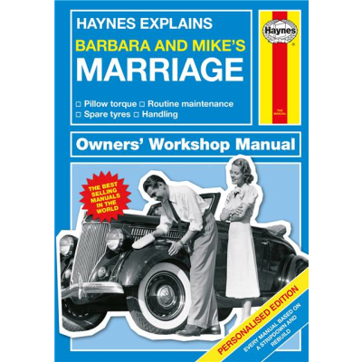 Haynes marriage personlised cover %281%29