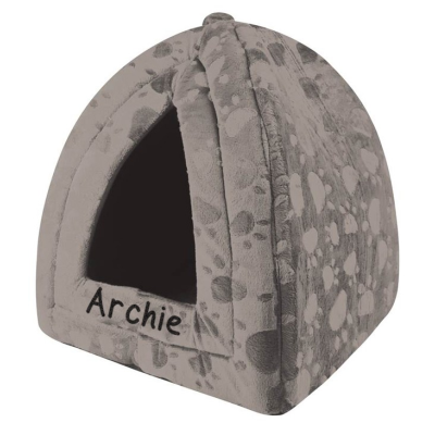 Grey triangle pet bed