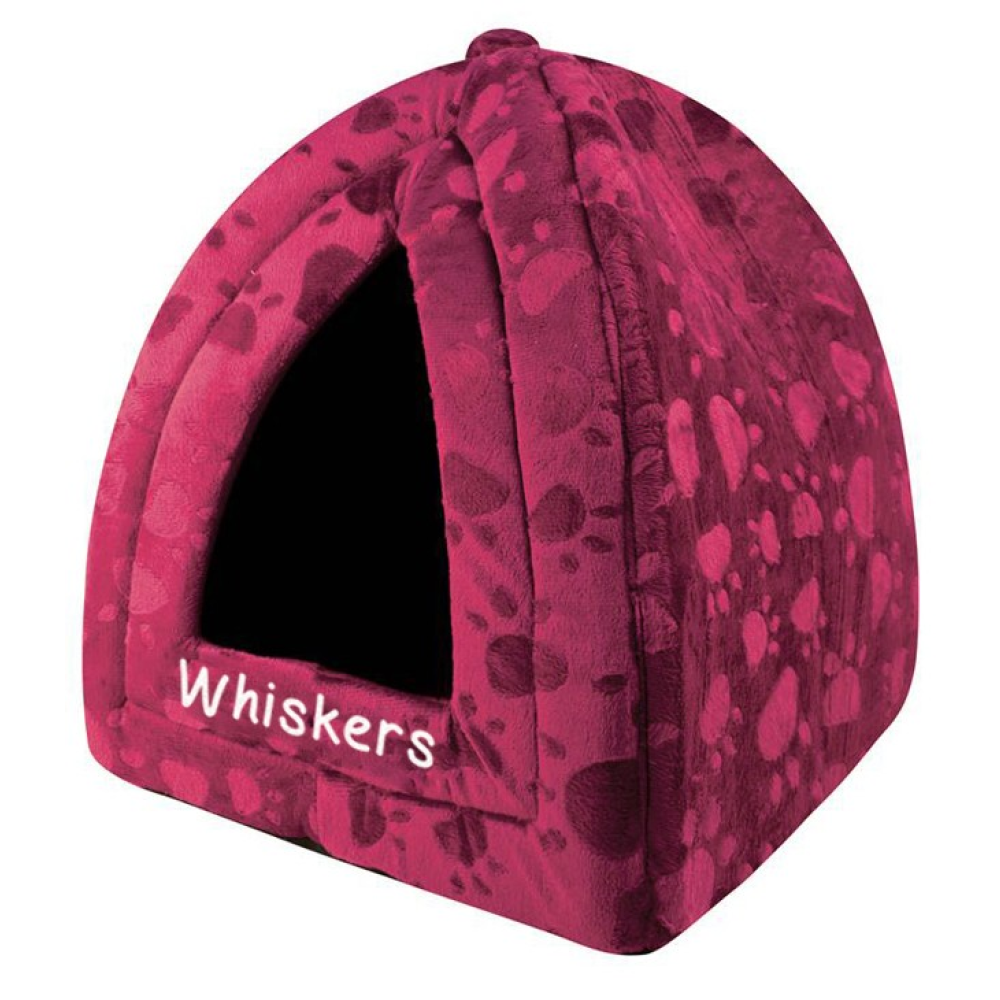 Maroon triangle pet bed