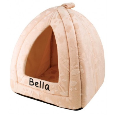 Cream triangle pet bed