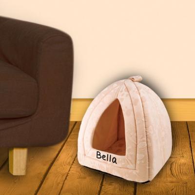 Cream triangle pet bed..