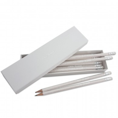 White glitter pencils in box 1