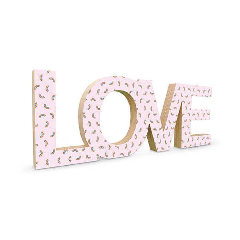 Standing wooden word love image 03