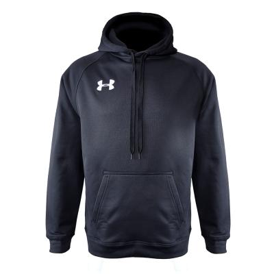 Men's armour fleece hoodie   black front
