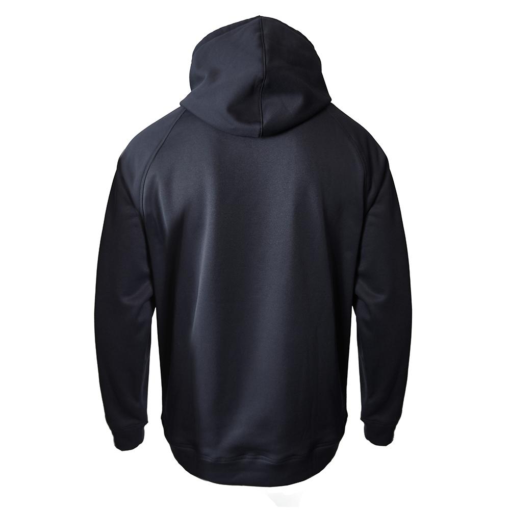 Men's armour fleece hoodie   black back