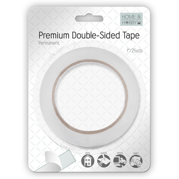 Premium Double-Sided Tape 1Inch, permanent adhesive