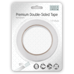 Premium Double-Sided Tape 1/2in Permanent
