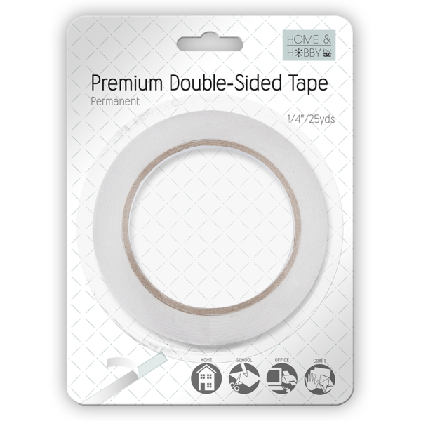 Premium Double-Sided Tape 1/4in Permanent