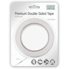 Premium Double-Sided Tape 1/8in Permanent