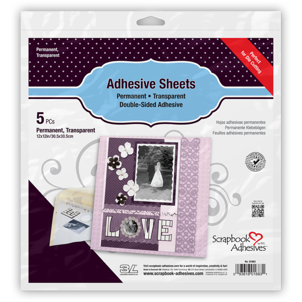 """Adhesive Sheets for Die cutting 12x12"""""""