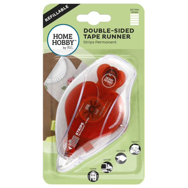 Double-Sided Tape Runner Strips Permanent  49' #01954