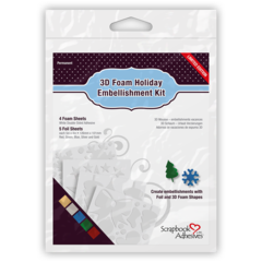 01224 3D Foam Holiday Embellishment Kit with Foil