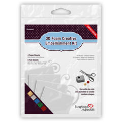 01225 3D Foam Creative Embellishment Kit with Foil