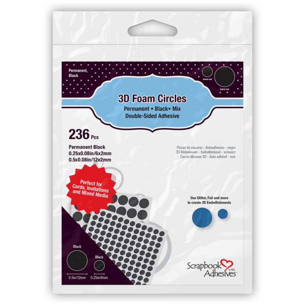 3D Foam Circles Black Mix, #01227