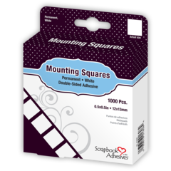 01608 Mounting Squares, 1,000 Permanent White adhesive