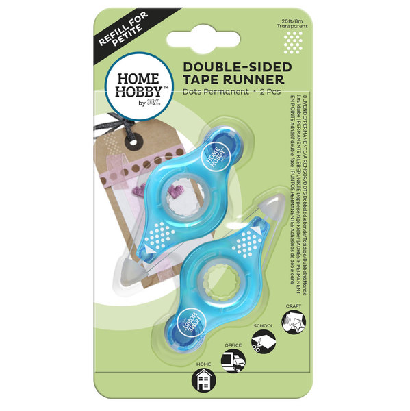 Double-Sided Tape Runner Petite Refills Dots Permanent Adhesive 01977